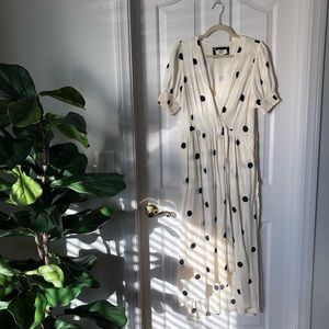 Anthropologie Maeve Polka Dot Dress